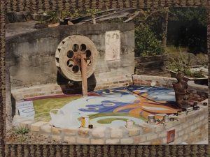 Water wheel during painting A